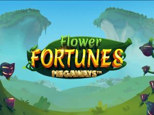 Flower Fortunes Megaways logo achtergrond
