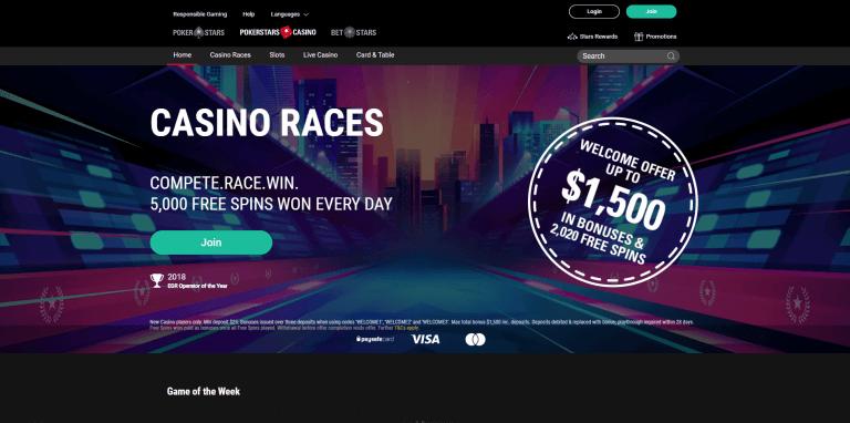 PokerStars Casino Screenshot 1