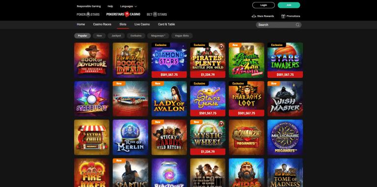 PokerStars Casino Screenshot 2