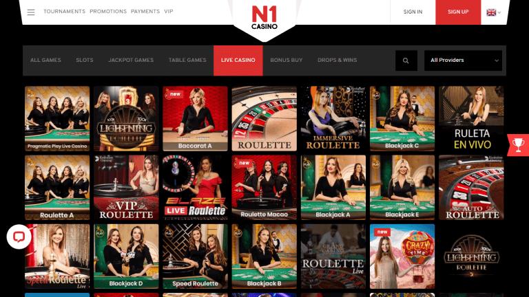 N1 Casino Screenshot 3