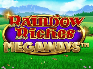 Rainbow Riches Megaways side logo review