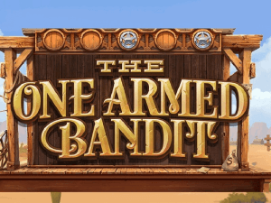 The One Armed Bandit logo achtergrond