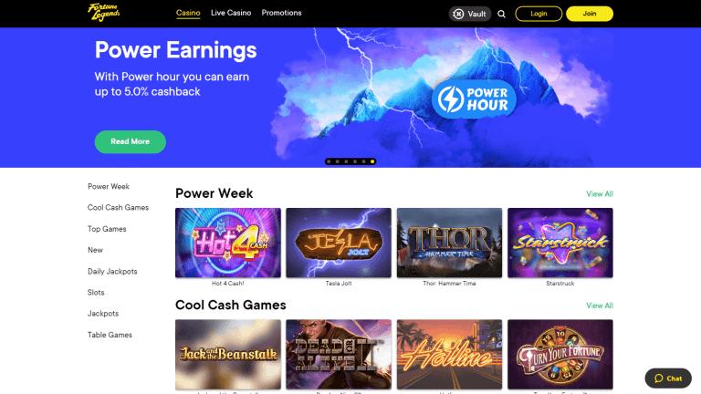Fortune Legends Casino Screenshot 2