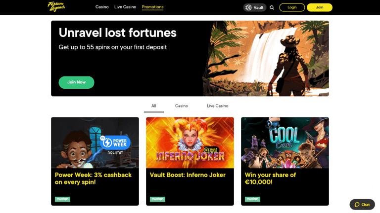 Fortune Legends Casino Screenshot 3