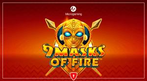 9 Masks Of Fire logo achtergrond