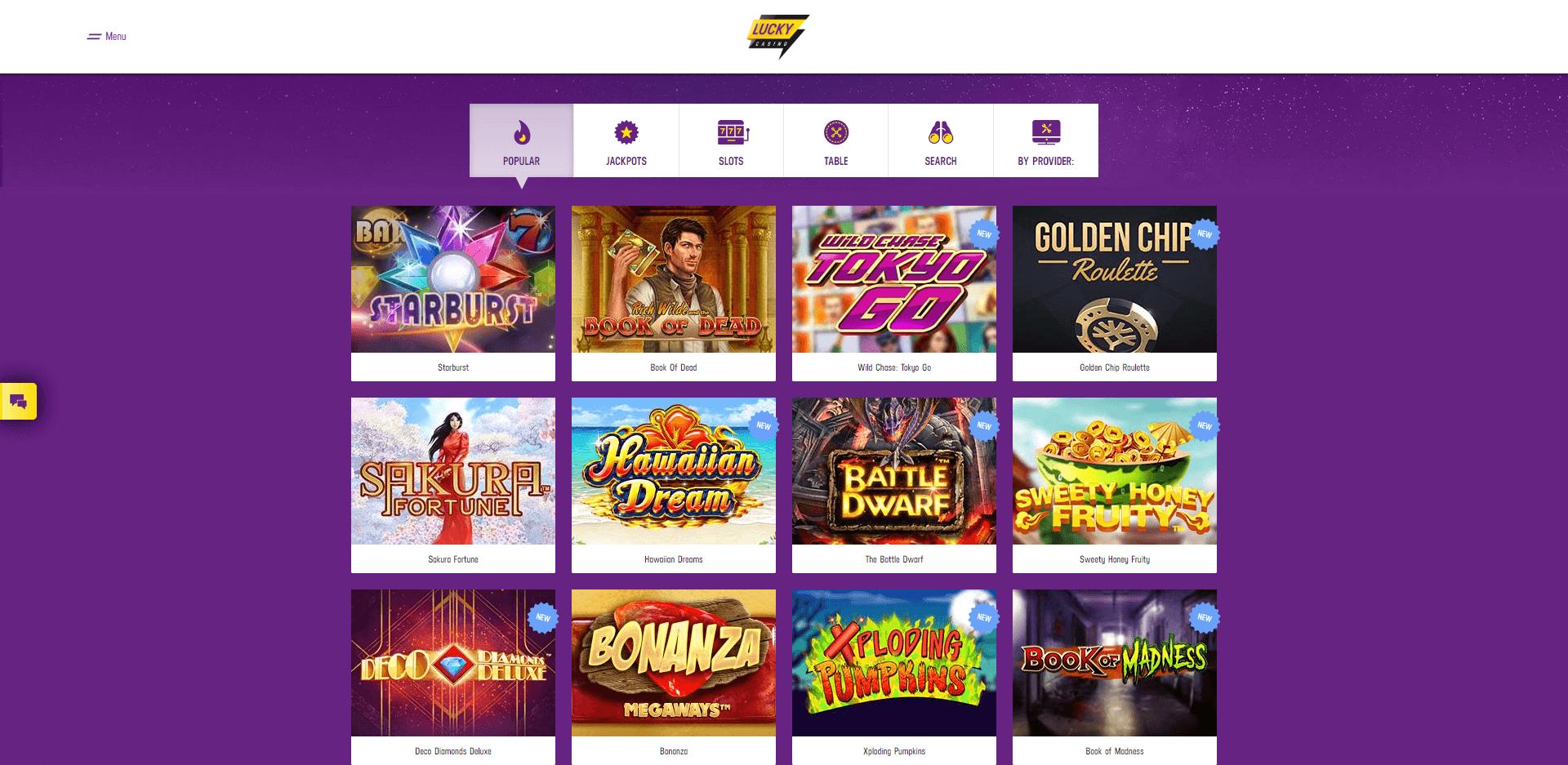 Lucky Casino Nieuw Casino
