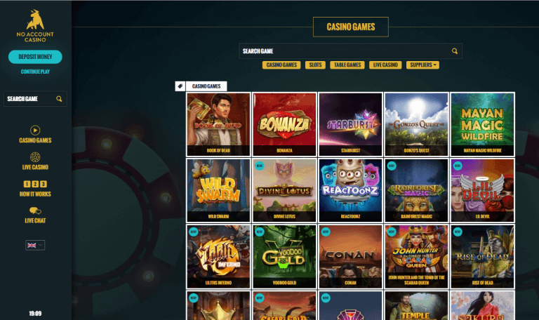 No Account Casino Screenshot 3