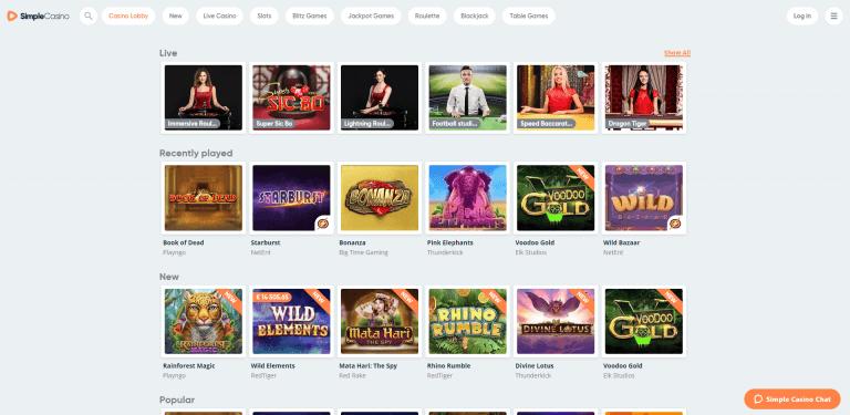 Simple Casino Screenshot 2