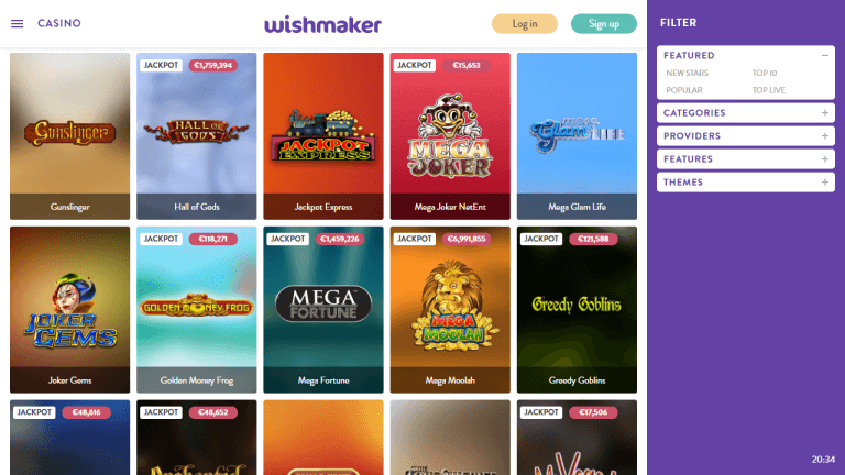 Wishmaker Casino Screenshot 3