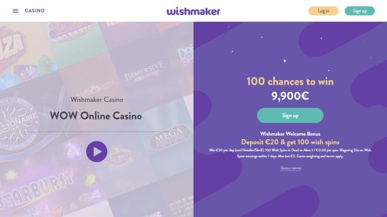 Wishmaker Casino Screenshot 1