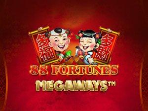 88 Fortunes Megaways logo achtergrond
