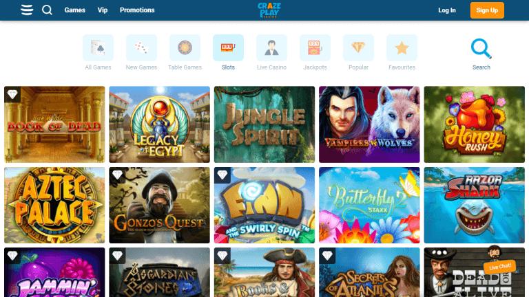 CrazePlay Casino Screenshot 2