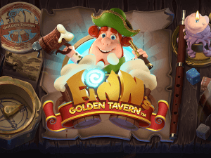 Finn's Golden Tavern logo achtergrond