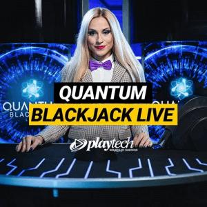 Quantum blackjack logo achtergrond