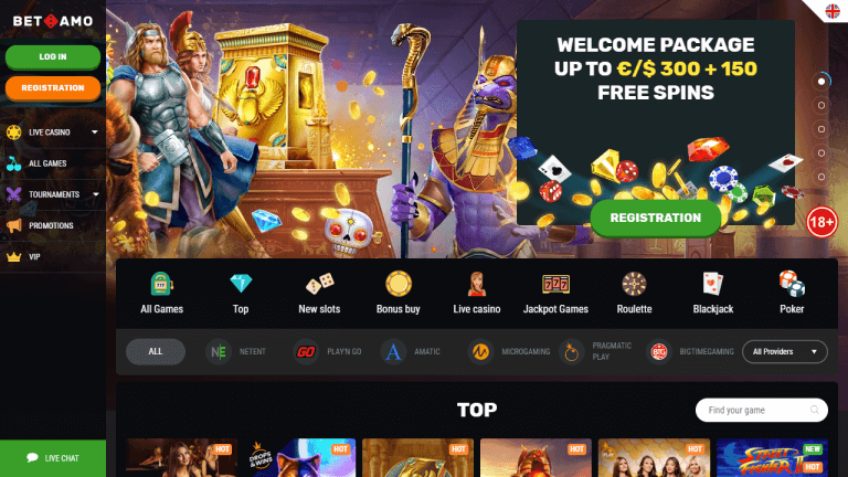 Betamo Casino Screenshot 1