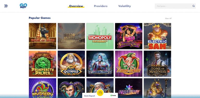 GoSlotty Casino Screenshot 2