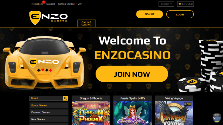 Enzo Casino Screenshot 1
