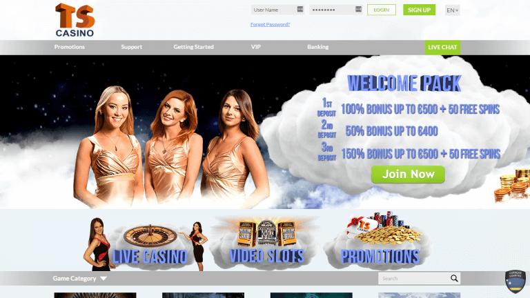 TS Casino Screenshot 1