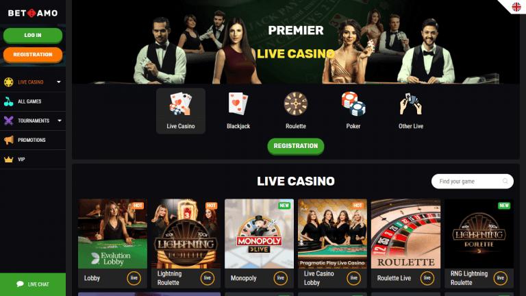 Betamo Casino Screenshot 3