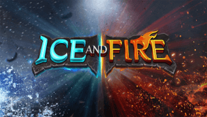 Ice And Fire logo achtergrond