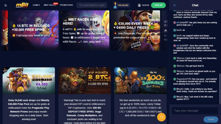 mBit Casino Screenshot 3