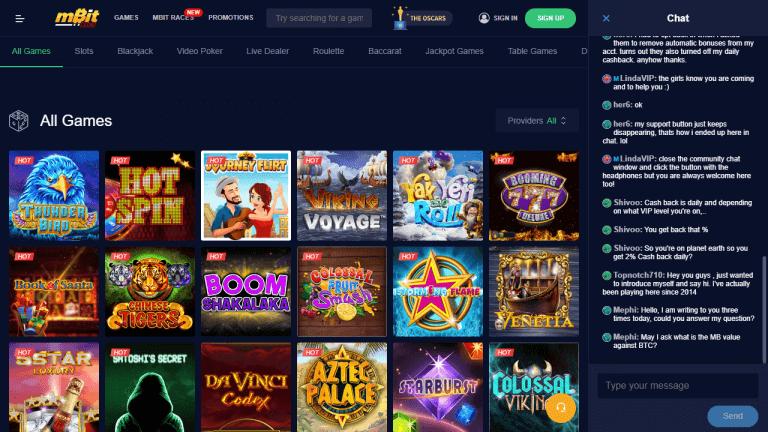 mBit Casino Screenshot 2