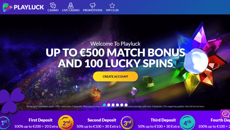Playluck Casino Screenshot 1