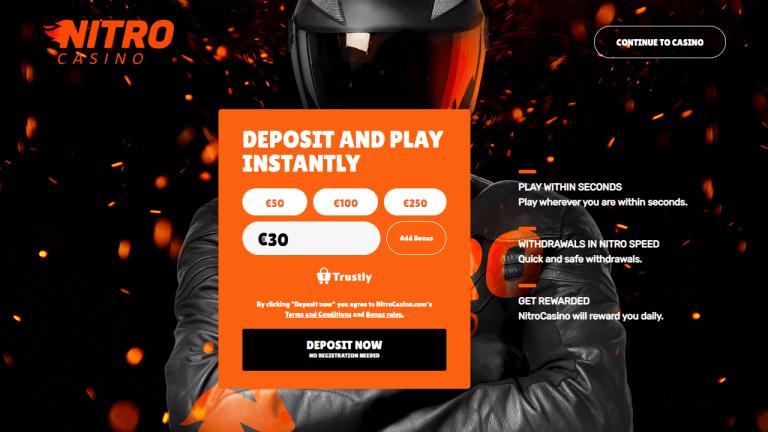 Nitro Casino Screenshot 1