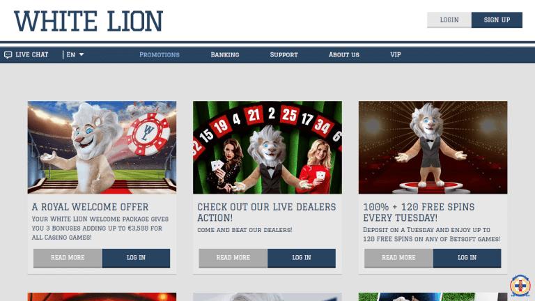 White Lion Casino Screenshot 3