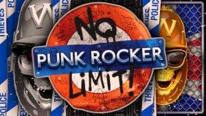 Punk Rocker logo achtergrond