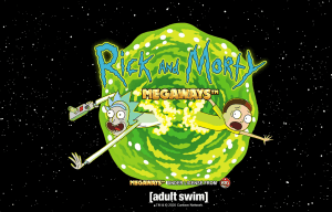 Rick and Morty Megaways logo achtergrond