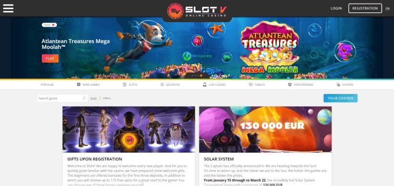 SlotV Casino Screenshot 2