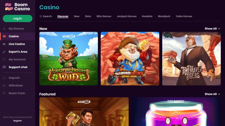 Boom Casino Screenshot 2