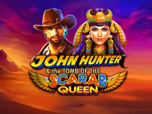John Hunter and the Tomb of the Scarab Queen logo achtergrond