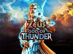 Zeus God Of Thunder logo achtergrond