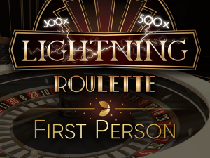 First Person Lightning Roulette logo achtergrond