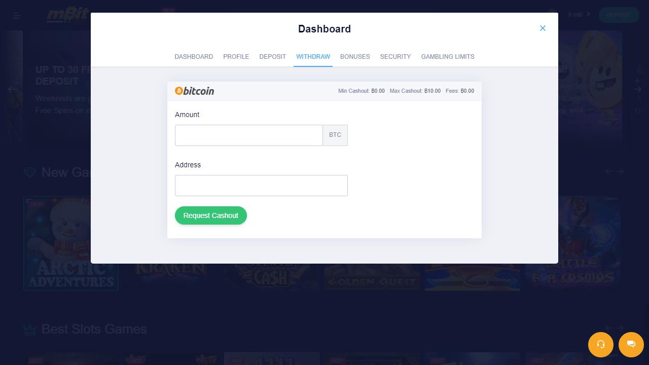 bitcoin casino uitbetalen