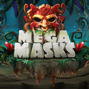 Mega Masks logo achtergrond