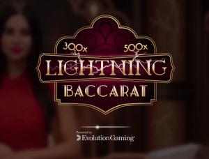 Lightning Baccarat logo achtergrond