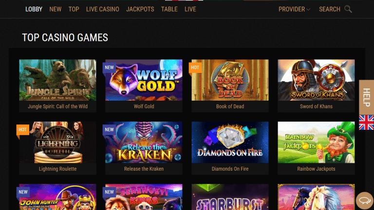 King Billy Casino Screenshot 2