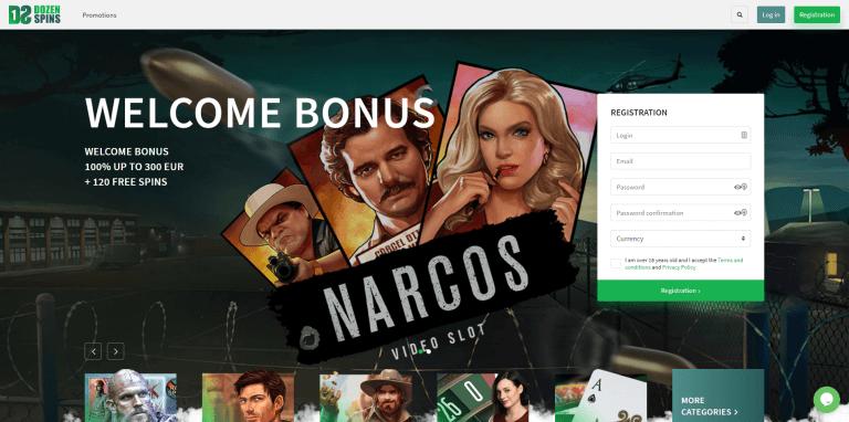 Dozen Spins Casino Screenshot 1