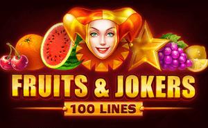Fruits & Joker: 100 lines logo achtergrond