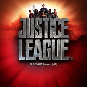Justice League logo achtergrond