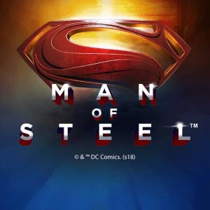 Man Of Steel logo achtergrond
