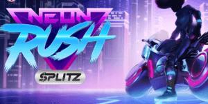 Neon Rush Splitz logo achtergrond