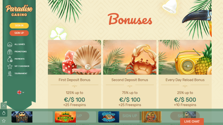 Paradise Casino Screenshot 3