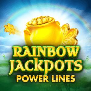 Rainbow Jackpots Power Lines logo achtergrond