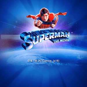 Superman The Movie logo achtergrond