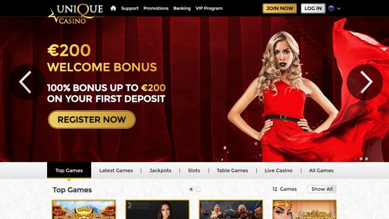 Unique Casino Screenshot 1