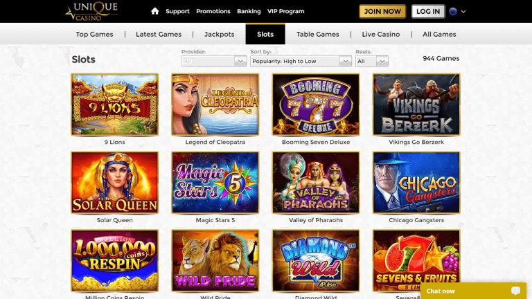 Unique Casino Screenshot 3